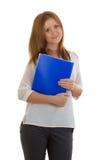 Donna di affari con una cartella Immagine Stock
