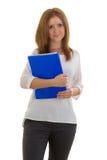 Donna di affari con una cartella Immagine Stock Libera da Diritti