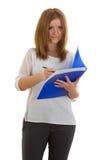 Donna di affari con una cartella Fotografia Stock Libera da Diritti