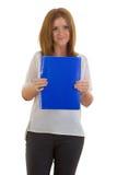 Donna di affari con una cartella Immagini Stock Libere da Diritti