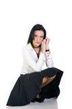 Donna di affari del Brunette Fotografie Stock