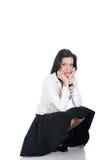 Donna di affari del Brunette Fotografia Stock