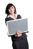 Donna di affari del computer portatile immagine stock libera da diritti