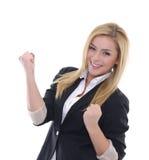 Donna di affari del vincitore Immagine Stock