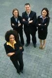 Donna di affari dell'afroamericano come guida Immagine Stock