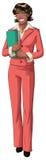 Donna di affari dell'afroamericano con il dispositivo di piegatura Immagini Stock