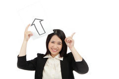 Donna di affari dell'Asia Fotografia Stock