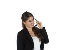 Donna di affari della call center Fotografia Stock Libera da Diritti
