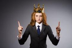Donna di affari della regina Immagine Stock