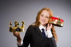 Donna di affari della regina Fotografia Stock Libera da Diritti