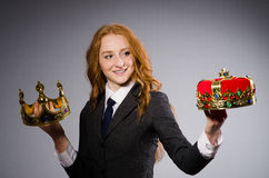 Donna di affari della regina Immagine Stock Libera da Diritti