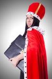 Donna di affari della regina Fotografie Stock Libere da Diritti
