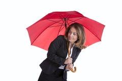 Donna di affari di assicurazione fotografie stock