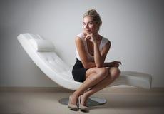 Donna di affari di classe Fotografia Stock