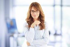 Donna di affari di medio evo Fotografia Stock