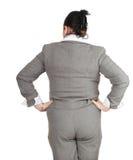 Donna di affari di peso eccessivo e grassa fotografia stock libera da diritti