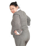 Donna di affari di peso eccessivo sorridente Fotografie Stock Libere da Diritti