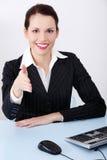 Donna di affari di saluto. Immagini Stock Libere da Diritti
