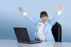 Donna di affari di successo Fotografia Stock Libera da Diritti