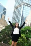 Donna di affari di successo di risultati di affari Fotografia Stock Libera da Diritti