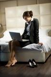 Donna di affari di viaggio Immagini Stock Libere da Diritti