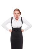 Donna di affari Displeased fotografie stock