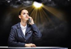 Donna di affari disturbata Fotografia Stock Libera da Diritti