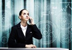 Donna di affari disturbata Immagini Stock