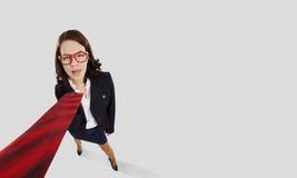 Donna di affari divertente Immagine Stock