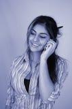 Donna di affari e cellphone-4 Immagini Stock Libere da Diritti