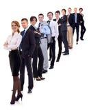 Donna di affari e la sua squadra Immagine Stock Libera da Diritti