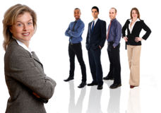 Donna di affari e squadra Fotografia Stock