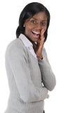 Donna di affari eccitata e gridare Immagini Stock