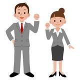 Donna di affari ed uomo d'affari Immagini Stock