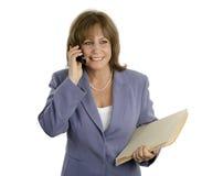 Donna di affari efficiente Relaxed fotografia stock libera da diritti