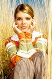Donna di affari esterna Fotografia Stock