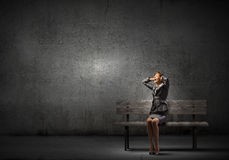 Donna di affari faticosa Fotografia Stock