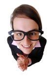 Donna di affari felice Fotografia Stock Libera da Diritti