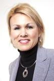Donna di affari felice Immagini Stock Libere da Diritti