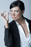 Donna di affari (Fredda-Ver) Immagine Stock Libera da Diritti