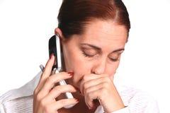 Donna di affari frustrata Fotografie Stock
