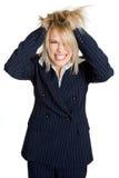 Donna di affari frustrata Immagini Stock