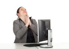 Donna di affari grassa di preghiera Fotografia Stock Libera da Diritti