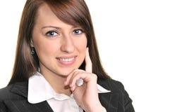 Donna di affari graziosa Fotografie Stock