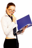Donna di affari graziosa. Fotografie Stock