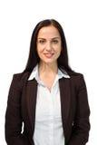 Donna di affari graziosa che sorride alla macchina fotografica Immagini Stock