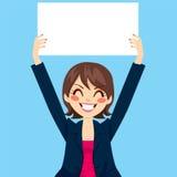 Donna di affari Holding White Board Immagine Stock Libera da Diritti