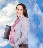 Donna di affari incinta Fotografia Stock