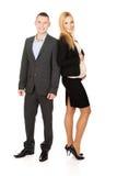 Donna di affari incinta con il suo partner Fotografia Stock Libera da Diritti