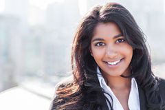 Donna di affari indiana asiatica Fotografia Stock